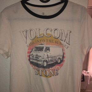 Volcom Cream Colored T-shirt